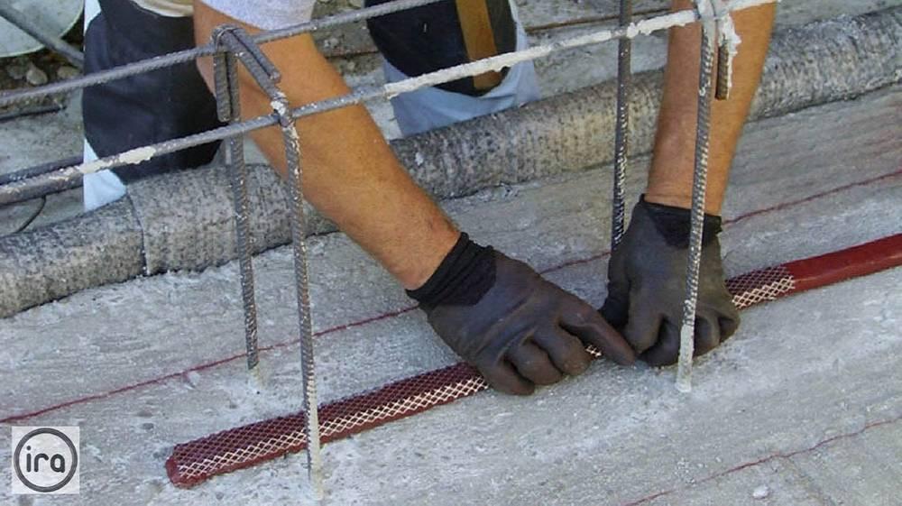 полагане на водонабъбващи ленти