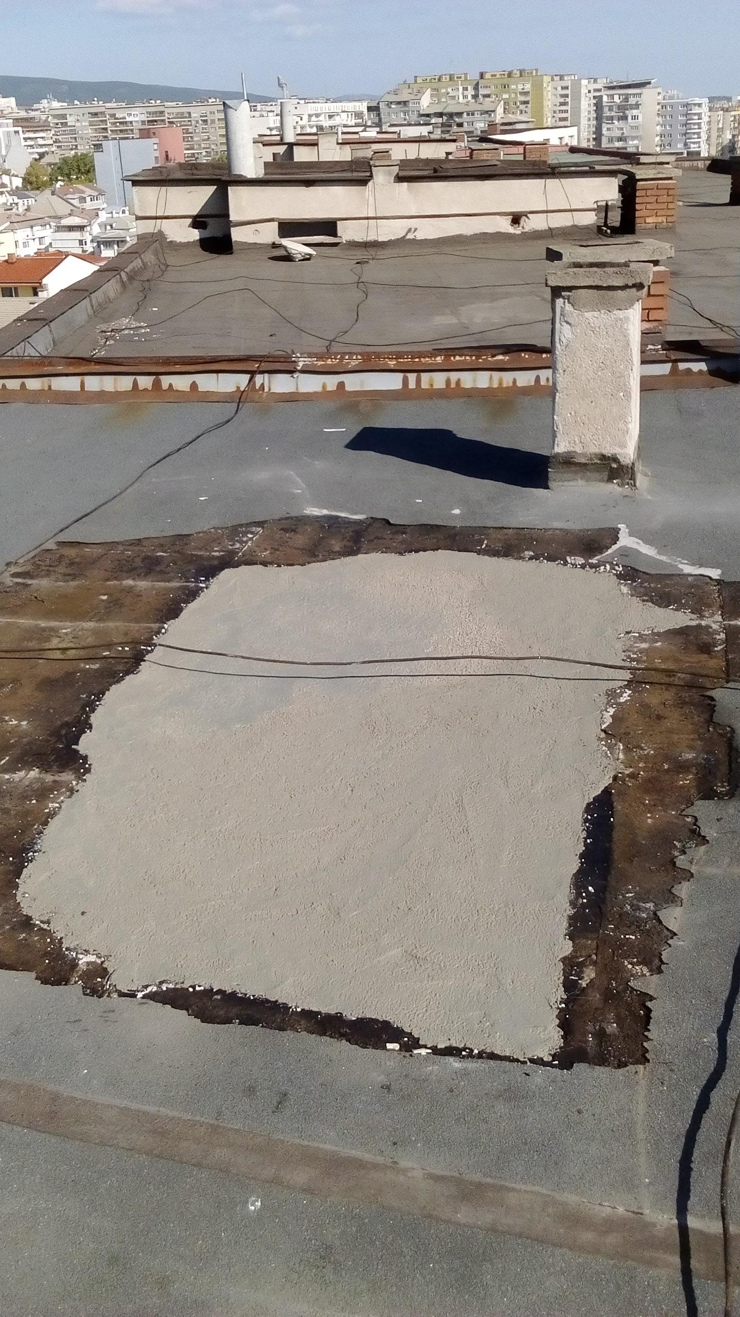 изравнителна замазка при ремонт на покрив