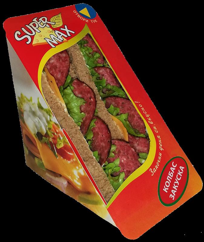 Сандвич с луканков колбас Закуска
